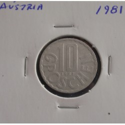 Aústria - 10 Groschen - 1981