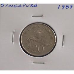 Singapura - 20 Cents - 1987