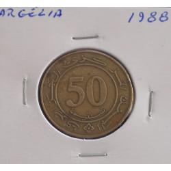 Argélia - 50 Centimes - 1988