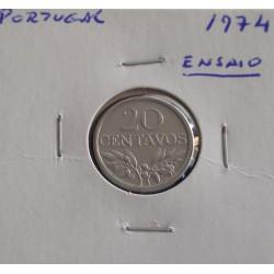 Portugal - 20 Centavos - 1974 - Ensaio