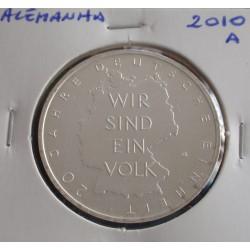 Alemanha - 10 Euro - 2010 A - Prata