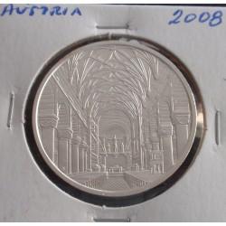 Aústria - 10 Euro - 2008 - Prata
