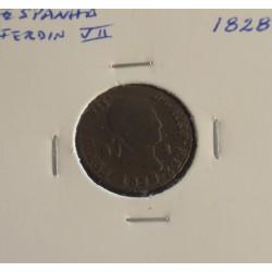 Espanha - Ferdin VII - 2 Maravedis - 1828