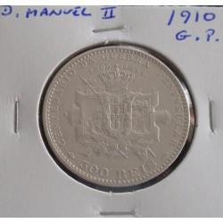 D. Manuel II - 500 Réis - 1910 - Guerra Peninsular - Prata