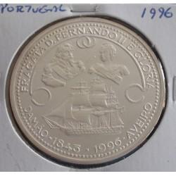 Portugal - 1000 Escudos - 1996 - Fragata D. Fernando e Glória - Prata