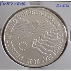 Portugal - 1000 Escudos - 2000 - Presidência do Cons. U. E. - Prata