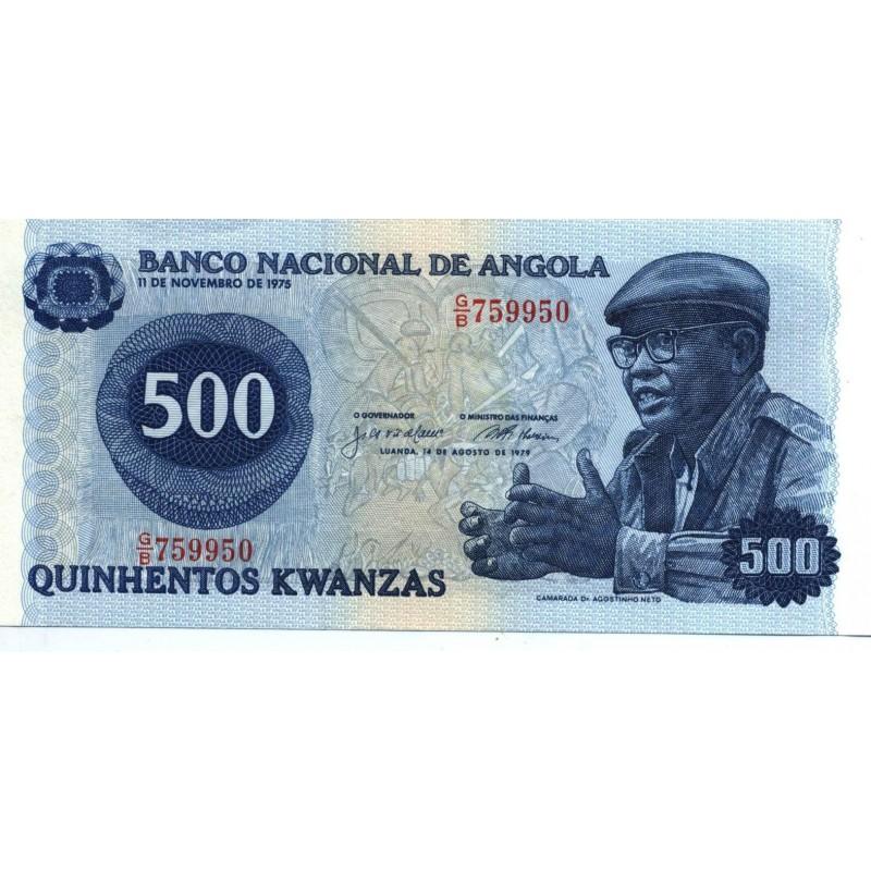 Angola - Nota - 500 Kwanzas - 14/08/1979 - Agostinho Neto