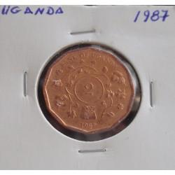 Uganda - 2 Shillings - 1987
