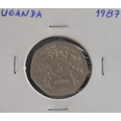 Uganda - 5 Shillings - 1987