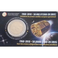 Bélgica - 2 Euro - 2018 - 50 Anos Satélite Iris
