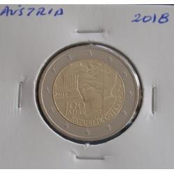 Áustria - 2 Euro - 2018 - 100 Anos Rep. Austriaca