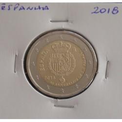 Espanha - 2 Euro - 2018 - 50º Aniv. Rei Felipe VI