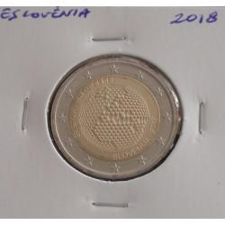 Eslovénia - 2 Euro - 2018 - Abelha