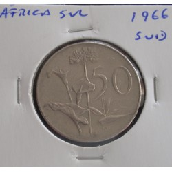 África do Sul - 50 Cents - 1966 ( Suid )