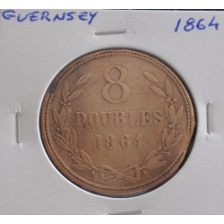Guernsey - 8 Doubles - 1864