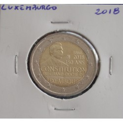 Luxemburgo - 2 Euro - 2018 - 150 Anos da Constituição
