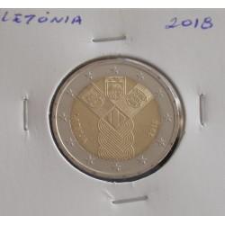 Letónia - 2 Euro - 2018 - 100 Anos dos Estados Bálticos