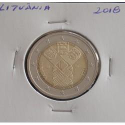 Lituânia - 2 Euro - 2018 - 100 Anos dos Estados Bálticos
