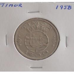 Timor - 1 Escudo - 1958