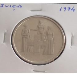 Suiça - 5 Francs - 1974 -...