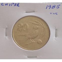 Chipre - 20 Cents - 1985 - Unc
