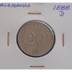Alemanha - 20 Pfennig - 1888 D