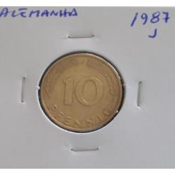 Alemanha - 10 Pfennig - 1987 J
