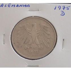 Alemanha - 5 Mark - 1975 D