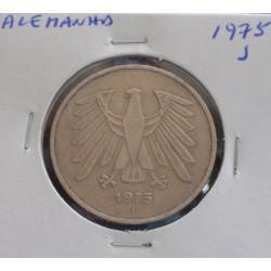Alemanha - 5 Mark - 1975 J