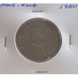 Hong - Kong - 5 Dollars - 1980