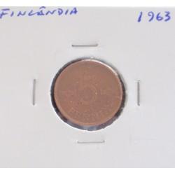 Finlândia - 5 Pennia - 1963