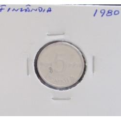 Finlândia - 5 Pennia - 1980