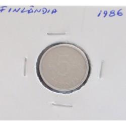 Finlândia - 5 Pennia - 1986