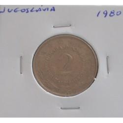Jugoslávia - 2 Dinara - 1980