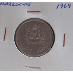 Marrocos - 1 Dirham - 1969