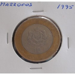 Marrocos - 10 Dirhams - 1995