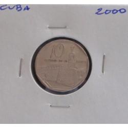Cuba - 10 Centavos - 2000