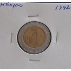 México - 1 Peso - 1992