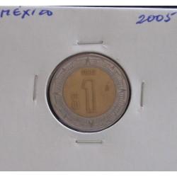 México - 1 Peso - 2005