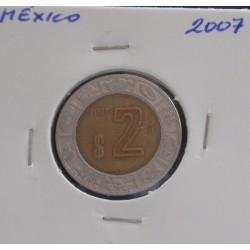 México - 2 Pesos - 2007