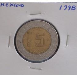 México - 5 Pesos - 1998