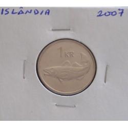 Islândia - 1 Krona - 2007