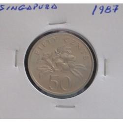 Singapura - 50 Cents - 1987