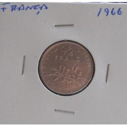 França - 1/2 Franc - 1966