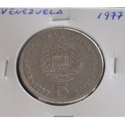 Venezuela - 5 Bolivares - 1977