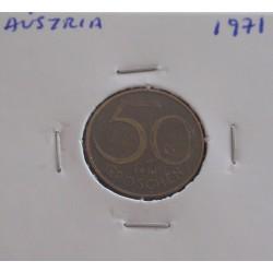 Aústria - 50 Groschen - 1971