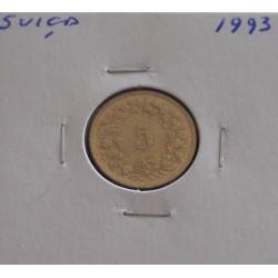 Suiça - 5 Rapen - 1993