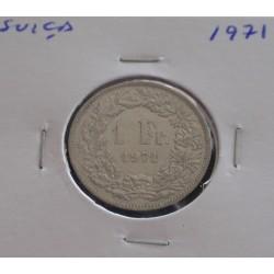 Suiça - 1 Franc - 1971