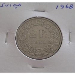 Suiça - 2 Francs - 1968