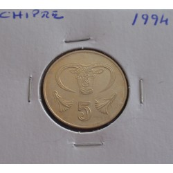 Chipre - 5 Cents - 1994